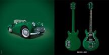 Guitare Electrique Lag Roxane Racing Bedarieux 2000 British Racing Green Bigsby