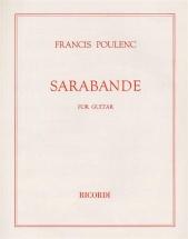 Poulenc F. - Sarabande - Guitare
