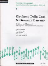 Dalla Casa  G./bassano G. - Divisions On Chansons I