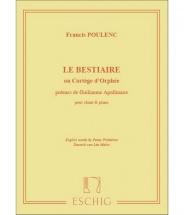 Poulenc F. - Le Bestiaire - Chant Et Piano