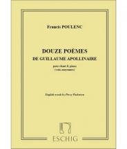 Poulenc F. - 12 Poemes - Voix Mezzo-soprano Et Piano