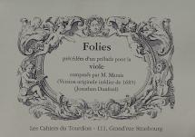 Marais Marin - Folies - Basse De Viole Et Bc