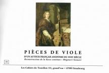 Anonyme - Pieces De Viole Xviième Siecle