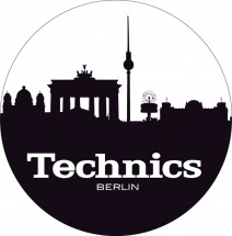 Magma Lp Slipmat Technics Berlin Black/white