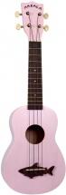 Makala Mk-ss/pnk Ukulele Soprano Shark Vintage Pink