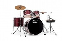Mapex Tnd5844ftcdr - New Tornado V2 Jazzette 18 - Bordeaux Wine Red