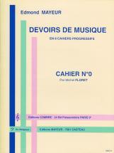 Mayeur Edmond - Devoirs De Musique Cahier 0