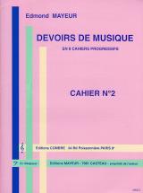 Mayeur Edmond - Devoirs De Musique Cahier 2