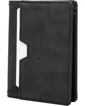 Marshall Portefeuille Suedehead Cuir Black