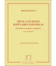 De Falla M. - Siete Canciones Populares Espanolas - Chant Et Piano