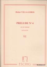 Villa Lobos H. - Prelude N 4 En Mi Mineur - Guitare