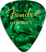 Fender Pack De 12 Mediators Forme 351 Premium Vert Heavy Dur