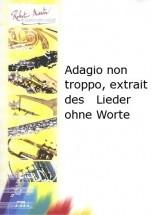 Mendelssohn F. - Adagio Non Troppo, Extrait Des Lieder Ohne Worte