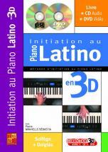 Minvielle-sebastia - Initiation Au Piano Latino En 3d Cd + Dvd