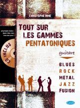 Rime Christophe - Tout Sur Les Gammes Pentatoniques + Cd - Guitare