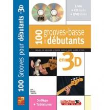 Tauzin B. - 100 Grooves De Basse Pour Debutants En 3d + Cd + Dvd