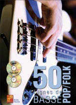 Tauzin Bruno - 50 Lignes De Basse Pop & Folk + Cd + Dvd