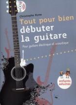 Rime Christophe - Tout Pour Bien Debuter La Guitare + Cd