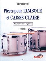 Lefevre - Pièces Pour Tambour Et Caisse-claire Vol.1