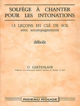 Gartenlaub O. - Solfege A Chanter Pour Les Intonations - Formation Musicale