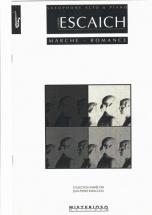 Escaich Th. - Marche-romance - Saxophone Alto Et Piano