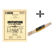 Methode De Batterie Vol.0 : Initiation à La Batterie + Baguette 5a Hickory