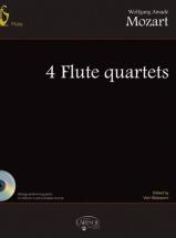 Partition Classique - Mozart W.a. - 4 Flute Quartets + Cd