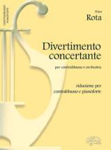 Rota Nino - Divertimento Concertante - Contrebasse, Piano