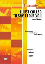 Wonder Stevie - I Just Called To Say I Love You - Ensemble Musical