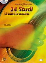 Ongarello Antonio - 24 Studi + Cd - Guitare