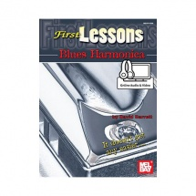 BARRETT DAVID - FIRST LESSONS BLUES HARMONICA + AUDIO and VIDEO ONLINE