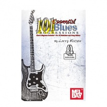 MCCABE LARRY - 101 ESSENTIAL BLUES PROGRESSIONS + ONLINE AUDIO - GUITAR
