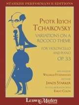 Tchaikovsky P. - Variations On A Rococo Theme Op.33 (janos Starker) - Violoncelle and Piano