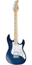 Fgn Guitars Eos-ash-m/sbbq Odyssey Expert Guitare Electrique Touche Erable Finition See-through Blue Burst Avec