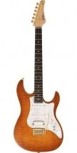 Fgn Guitars Eos-fm-r/vvq Odyssey Expert Guitare Electrique Touche Palissandre Finition Vintage Violin Avec Etui