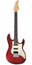 Fgn Guitars Jos-fm-g/trt Odyssey J-standard Guitare Electrique Touche Granadillo Finition Transparent Red Burst