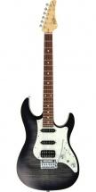 Fgn Guitars Jos-fm-g/tks Odyssey J-standard Guitare Electrique Touche Granadillo Finition Transparent Black Burs