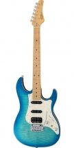 Fgn Guitars Jos-fm-m/obt Odyssey J-standard Guitare Electrique Touche Erable Finition Ocean Burst Avec Housse
