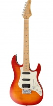 Fgn Guitars Jos-fm-m/fbt Odyssey J-standard Guitare Electrique Touche Erable Finition Fire Burst Avec Housse