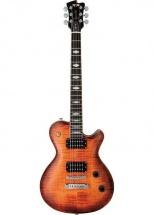 Fgn Guitars Efl-fm-r/vvq Flame Expert Guitare Electrique Touche Palissandre Finition Vintage Violin Avec Etui