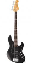 Fgn Guitars Jmj-al-g/bk Myghty Jazz J-standard Basse Electrique Touche Granadillo Finition Black Avec Housse