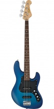 Fgn Guitars Bmj-g/tbs Myghty Jazz Boundary Basse Electrique Touche Granadillo Finition Transparent Blue