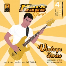 Markbass Mb4vgss50110ls 4 Strings Set Vintage Series Stainless Steel Flatwound 050 070 090 110