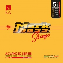 Markbass Mb5adss45130ls 5 Strings Set Advanced Series Stainless Steel 045 065 085 105 130