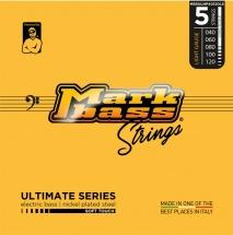 Markbass Mb5ulnp40120ls 5 Strings Set Ultimate Series Nickel Plated Steel 040 060 080 100 120