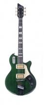 Supro 1296bg Silverwood Guitare Electrique Finition Verte