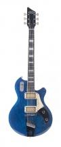 Supro 1296tb Silverwood Guitare Electrique Finition Bleue