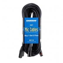 Samson Mc18 - Cable Xlr-xlr - 5,5 Metres - Set De 3 Pieces