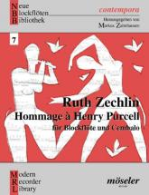 Zechlin Ruth - Hommage à Henry Purcell - Soprano- Or Tenor Recorder And Harpsichord
