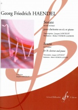 Haendel Georg-friedrich - Sonate En Sol Mineur - Clarinette Et Piano